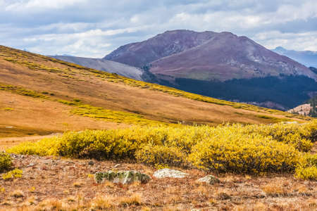 View from Independence Pass, Colorado, in Autumn photo