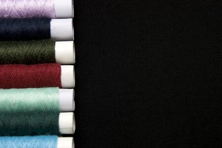 different colors thread rolls
