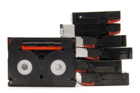 video tapes white isolated