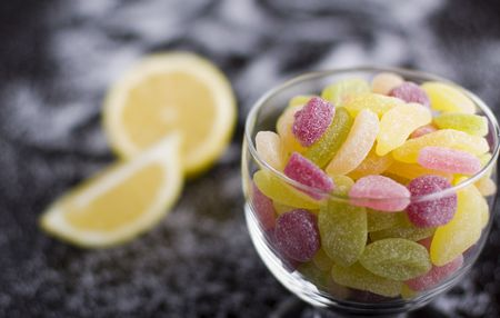 jelly beans: Sour jelly beans. Stock Photo