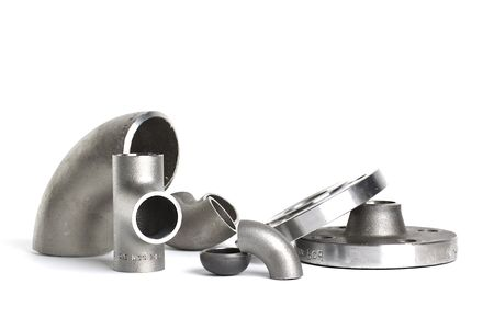 Steel welding fittings and connectors. Elbow flanges and tee.