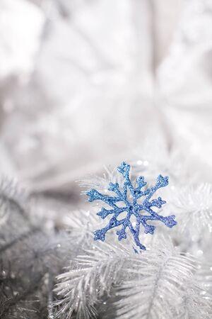 blue christmas: Blue Christmas snowflakes