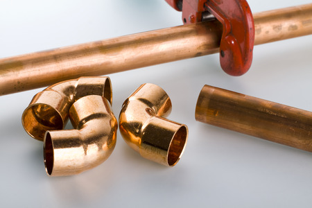 copper pipe: copper pipe and fittings