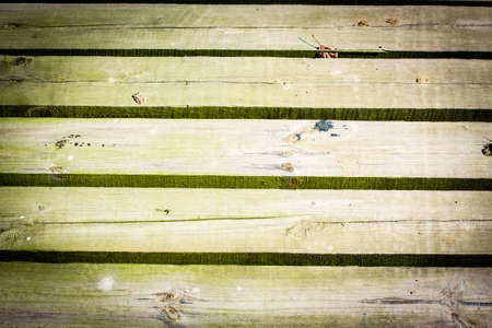 greenish blue: Texture of wood with slits between the boards background. Stock Photo