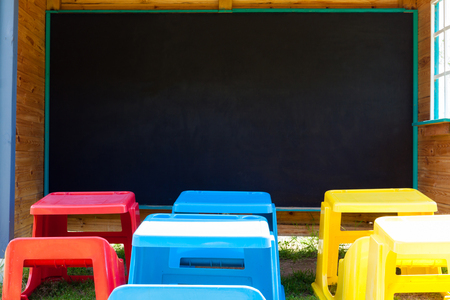 copy space: School board with copy space. Stock Photo