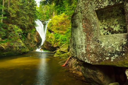 Szklarka Waterfall in Giant mountains, near Szklarska Poreba in Poland.