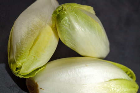 endive: Fresh green endive for an healthy nutrition.