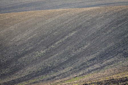 Background of Moravian fields, area called the Moravian Tuscany, Czechia.