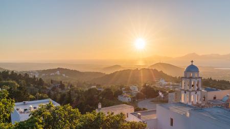 Sunset view from Asfendiou village in Kos island Greece Standard-Bild