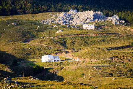 Two small houses on slope landslides.
