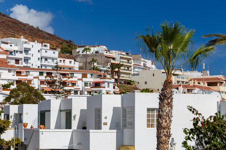 Traditional canarian architecture of hotels.