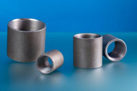Full equal socket, set of steel welding fittings.