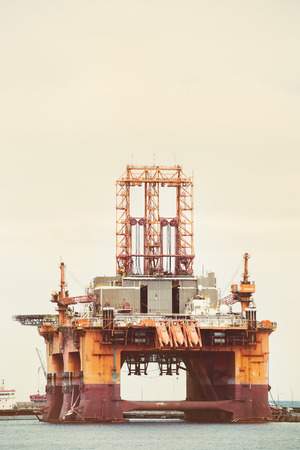 Oil and gas drilling platform. Banque d'images