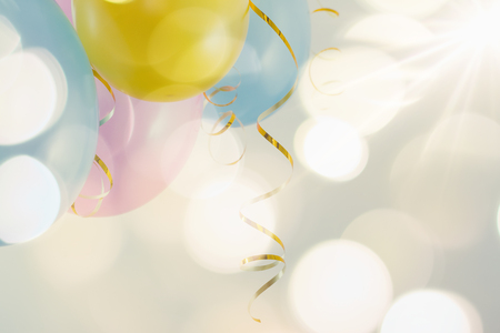 Colorful balloons to fun party on carnival or birthday.
