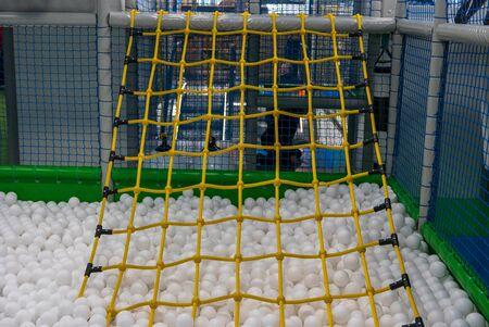 Gymnastic net on playground for children.
