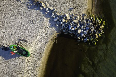 Aerial view on famous Cliff in Gdynia Orlowo.