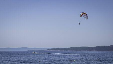 People playing Baska Voda water sports.