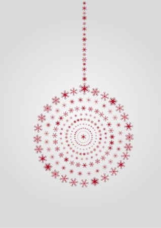 Christmas ornament with red flakes Stock Vector - 16541063