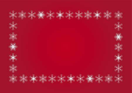 White frame from white flakes Stock Vector - 16541068