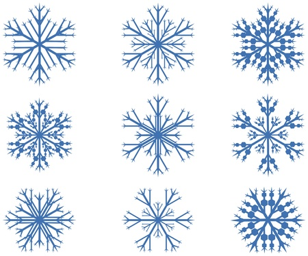 Design snow flakes set on white background Stock Vector - 16541057