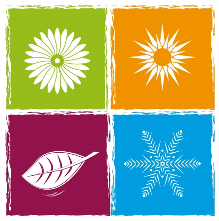 concept of symbols, spring, summer, autumn, winter Stock Vector - 16730416