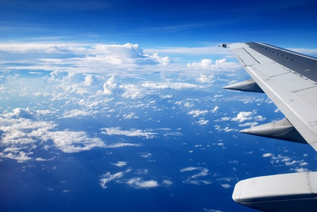 view from the airplane window, ocean blue Stock Photo - 16960864