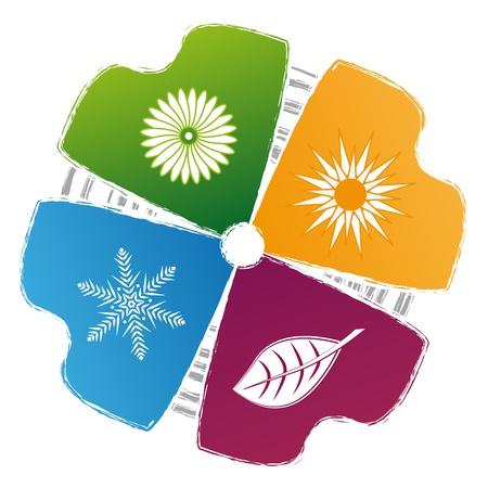 concept of symbols, spring, summer, autumn, winter Stock Vector - 17169010