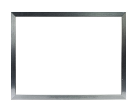 simple silver metal frame on the white background Stock Photo