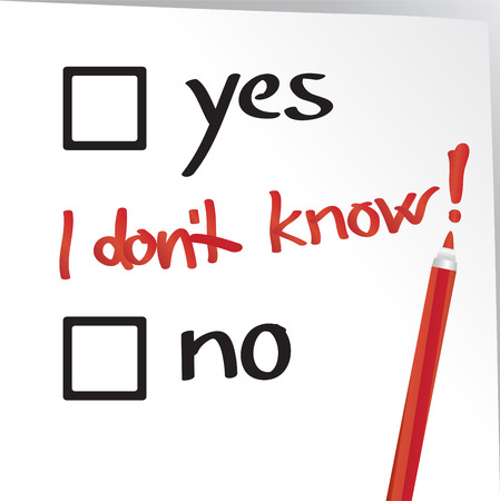 know how: I do not know how to fill out the form, neither yes nor no