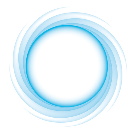 transition: Blue Circle of transition to white as magical swirl waves
