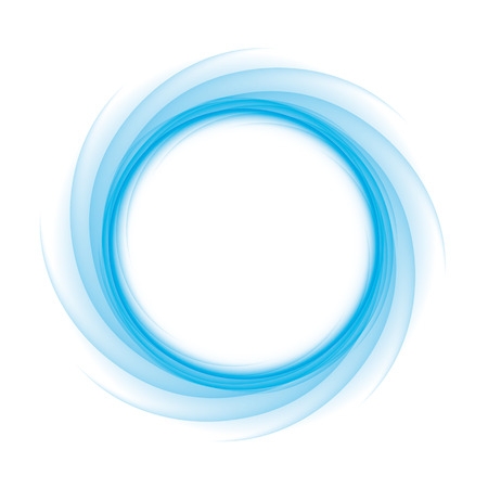 swirl: Blue Circle of transition to white as magical swirl waves
