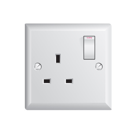 electrical outlet in the UK, power socket Stock Vector - 29689577