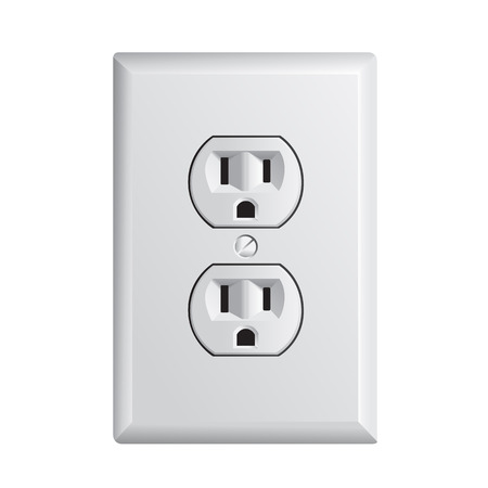 electrical outlet in the USA, power socket Çizim