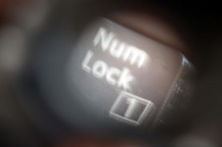 drunk view on a computer keyboard, blurred image Reklamní fotografie