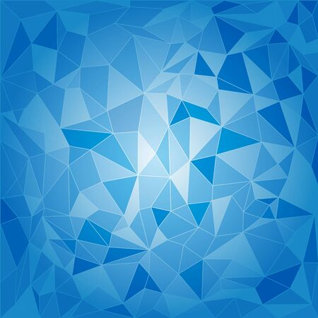Abstract triangular background in shades of blue and cyan