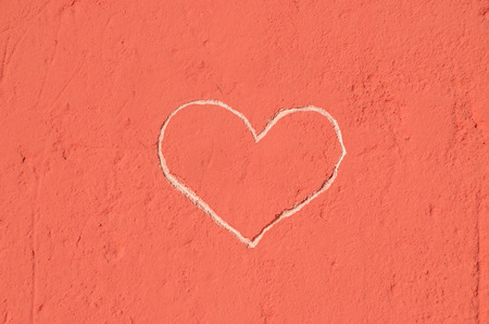 Heart of Love, carved into the wall