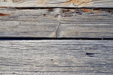 Background of old wood, sun-dried wood planks Stock Photo