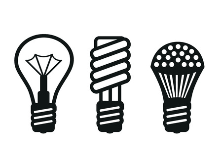 led lamp: Development lamps, standard incandescent lamps, energy-saving and LED lamp