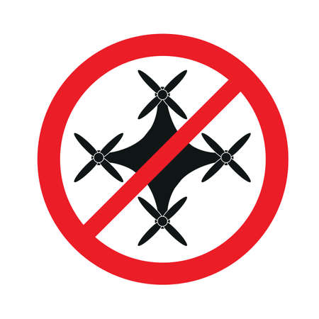 Signs ban on flying and the use of drones