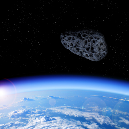 Looking at the asteroid approaching from space to Earth