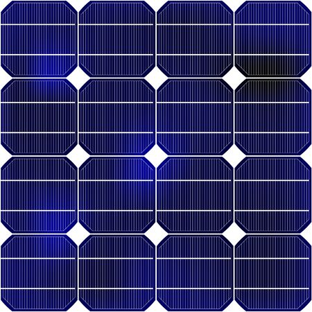 Detailed view of the solar panel texture of an ecological power plant