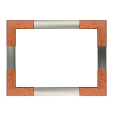 Modern simple frame made of wood and steel for landscape pictures Reklamní fotografie - 109586161