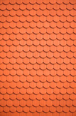 background, pattern from orange roof tiles Reklamní fotografie - 124352475