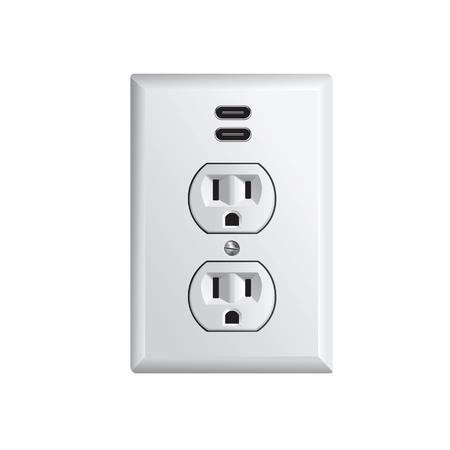 Gniazdko elektryczne w USA, gniazdo zasilania z USB-C