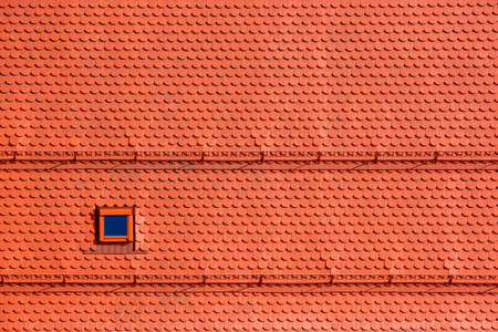 background, pattern from orange roof tiles