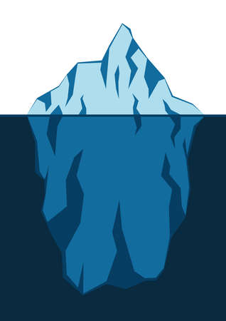 Blue floating iceberg as a symbol of global warming