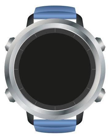 View of blank black smart watch display