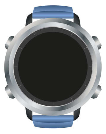 View of blank black smart watch display