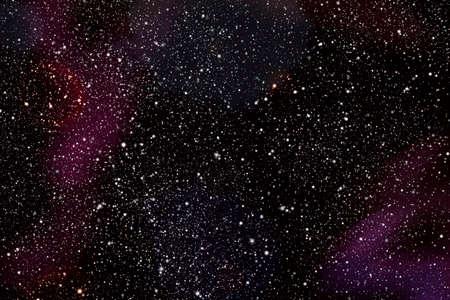 Dark sky at night overlooking countless stars in space Stock Photo