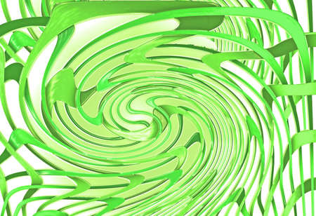green twirled lines as sample for my futuristic backgrounds Stock Photo